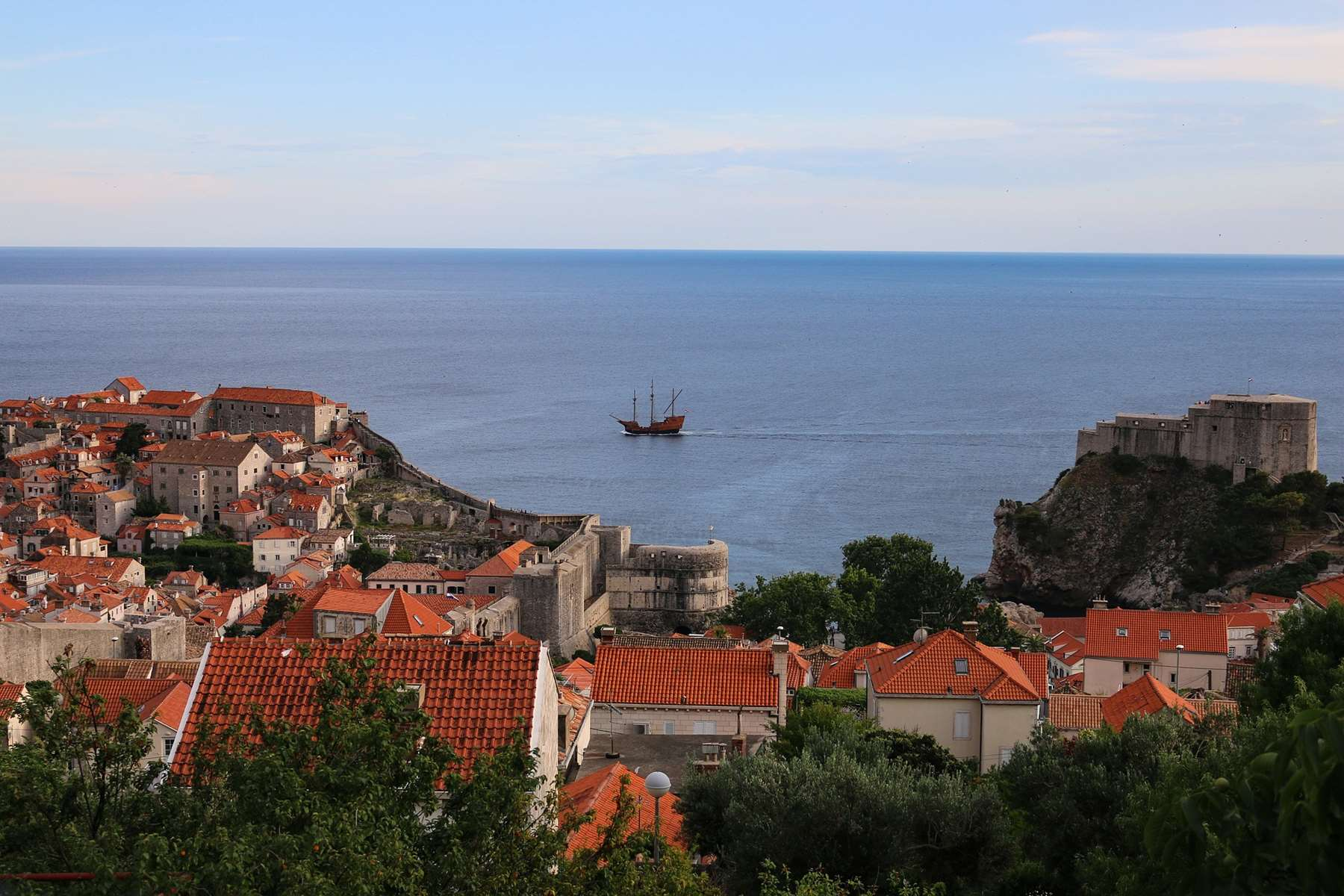 7 days sailing route from Dubrovnik